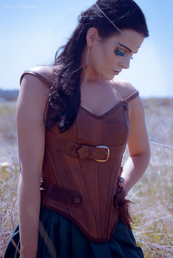 Leather Elf Corset by Trinitynavar