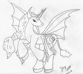 Faery Unicorn Tattoo Idea