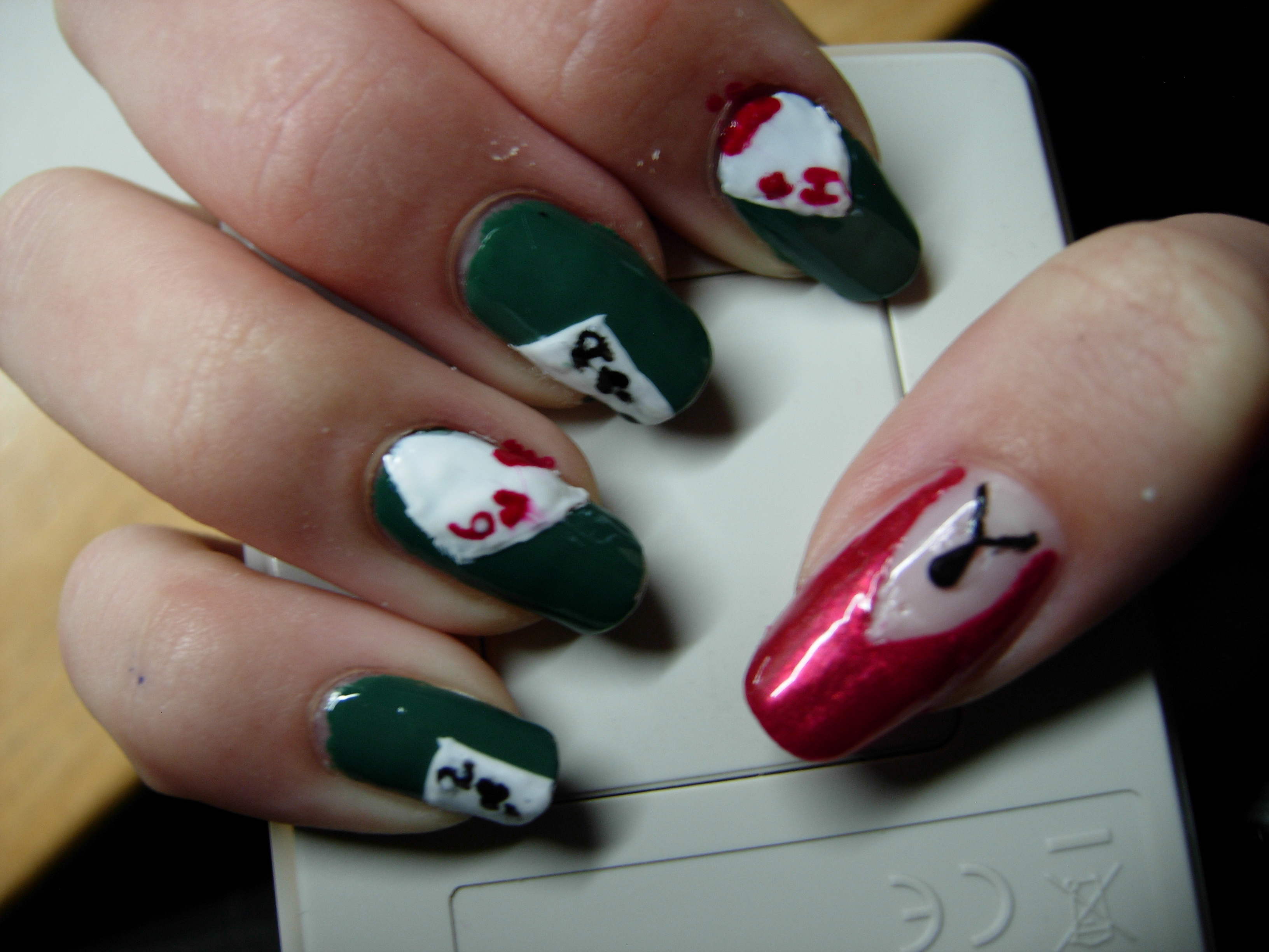 Poker nails 2 by SarahJacky