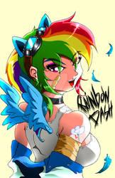 mlp remastering rainbow dash by animeclaro