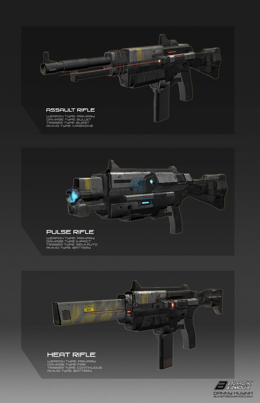 Black Armoury Guns by 152mm