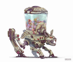 Easter Bunny Robot by 152mm
