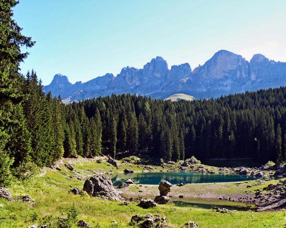Karersee and Rosengarten by Sergiba
