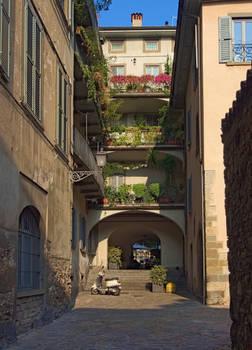 Flowered balconies