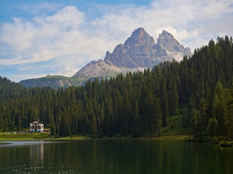 The Hotel, the Lake and the Three Peaks
