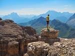 Wayfarer above sea of mountains II by Sergiba