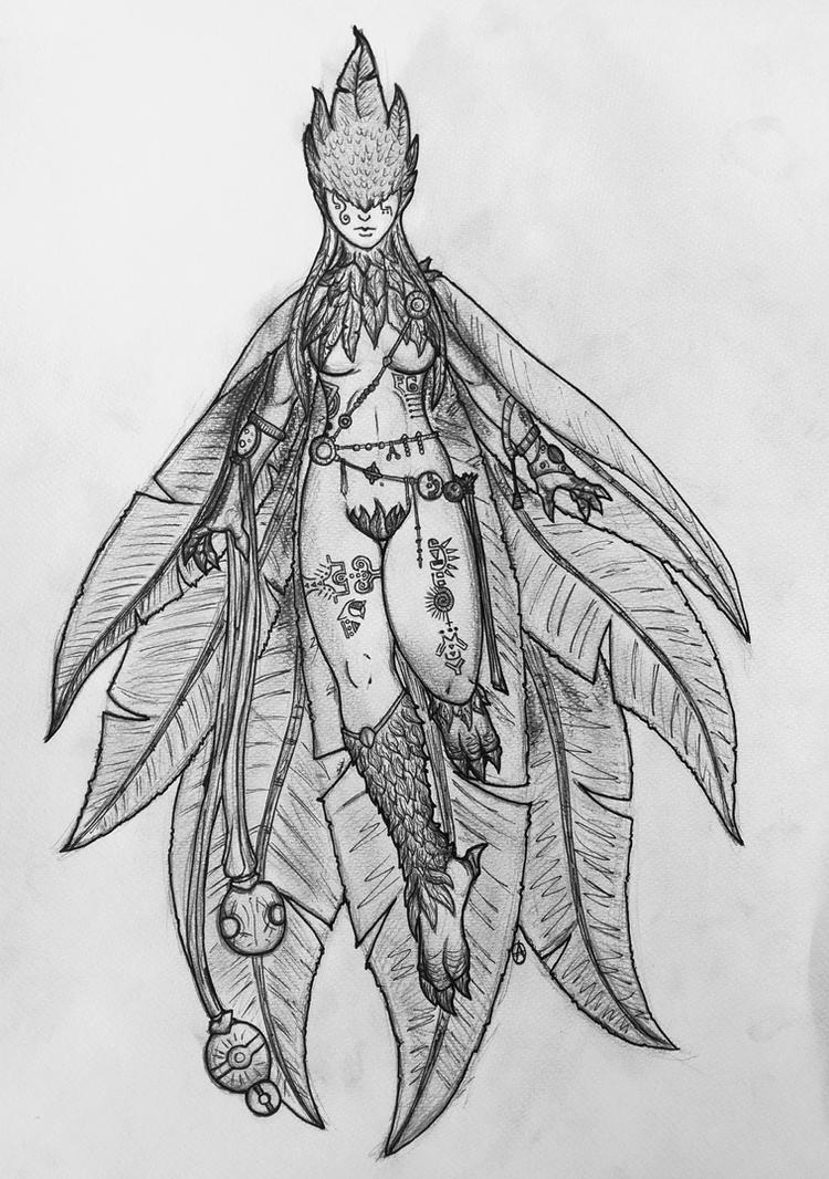 REIA-The air goddess (redesign) by arepa999
