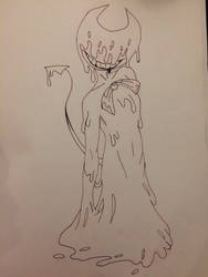 Inky Bendy - Sketch (1) by AbrielM