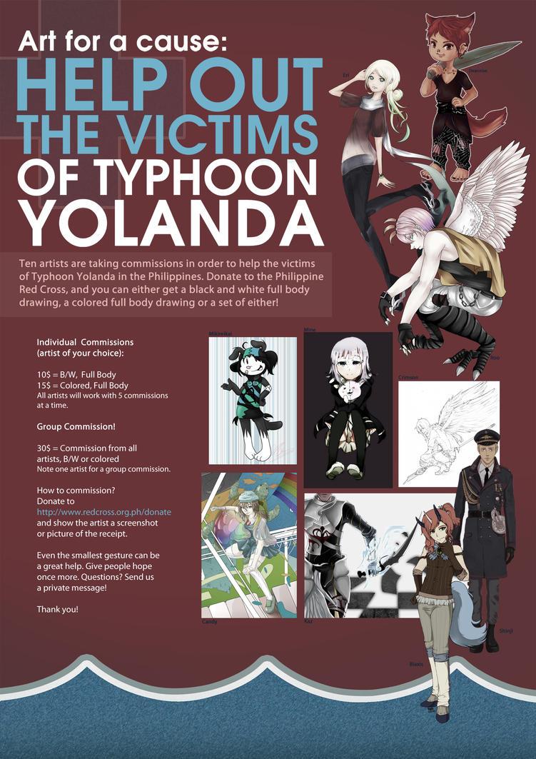 Art for a Cause: Typhoon Yolanda (Haiyan) by TsukimomoYAN
