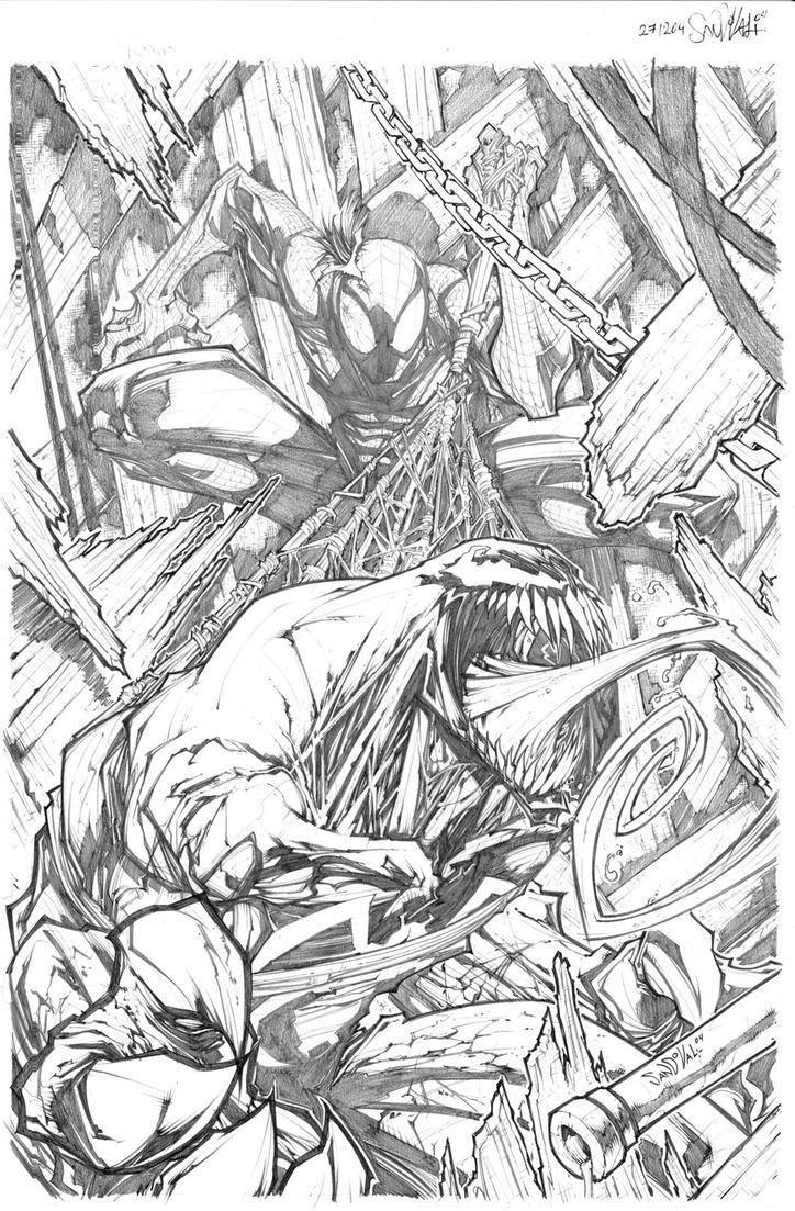 Venom Spiderman Drawing VENOM SPIDERMAN...