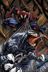venom spiderman color by Sandoval-Art