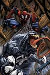 venom spiderman color