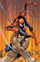 WOLVERINE SPIDERMAN by Sandoval-Art