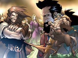 Jason And The Argonauts Spread by Sandoval-Art