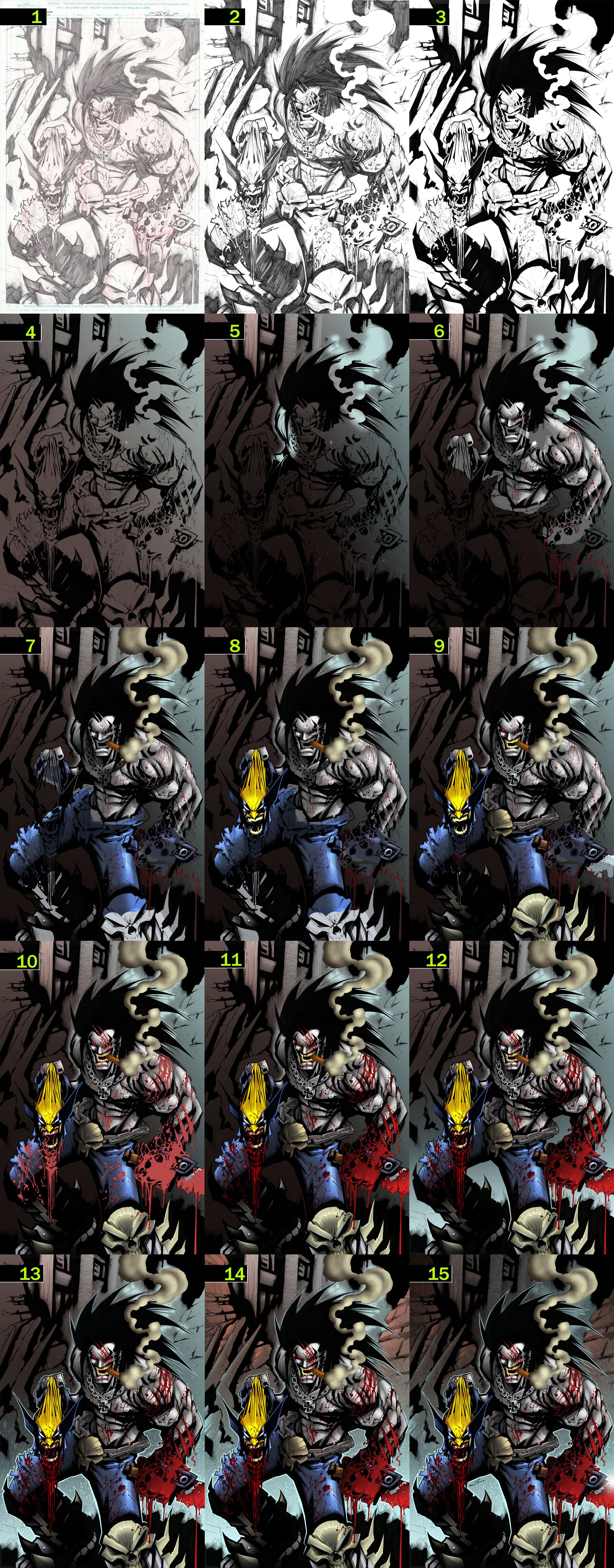Lobo vs Wolverine step by step