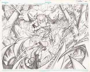 Hulk Maestro vs Darkness by Sandoval-Art