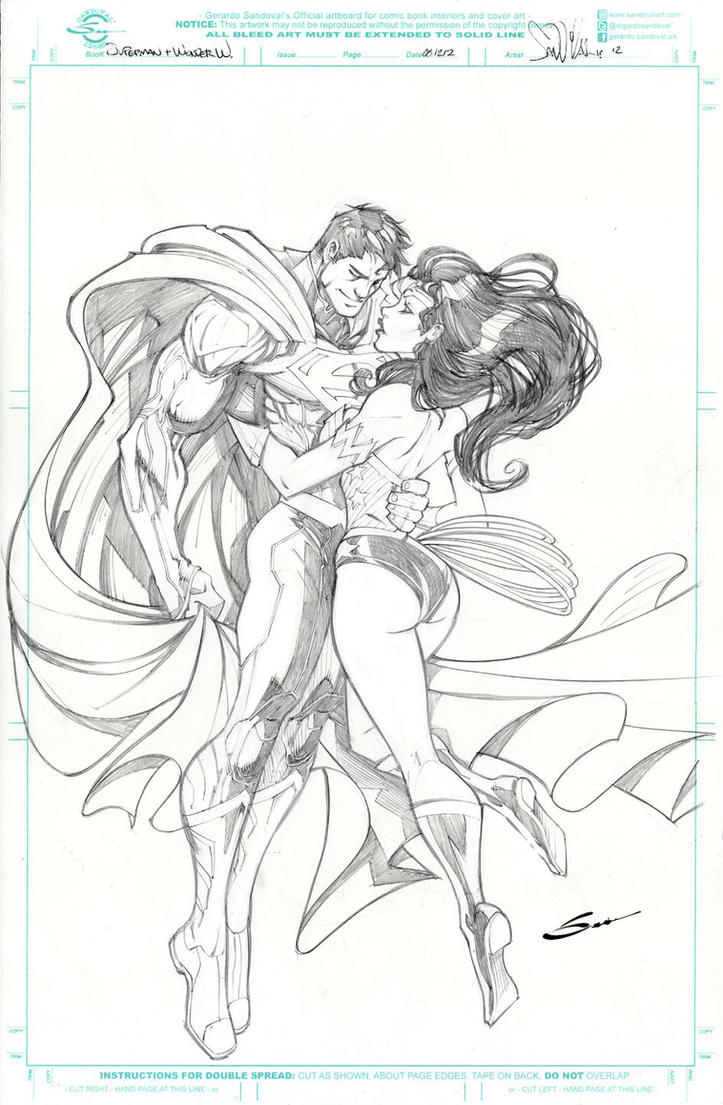 Superman and WOnder Woman by Sandoval Art on DeviantArt