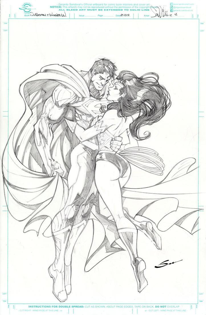 superman and wonder woman by sandoval art on deviantart