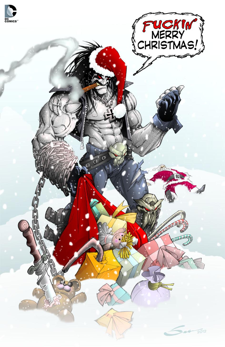 LOBO CHRISTMAS! by Sandoval-Art