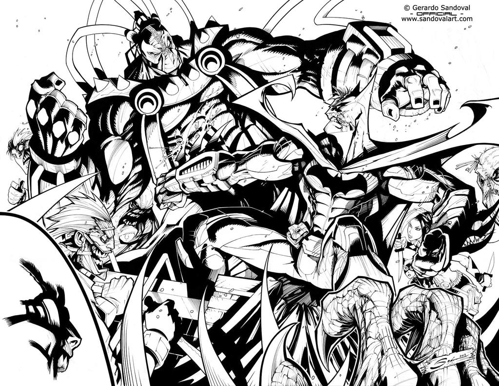BATMAN VS BANE! by Sandoval-Art