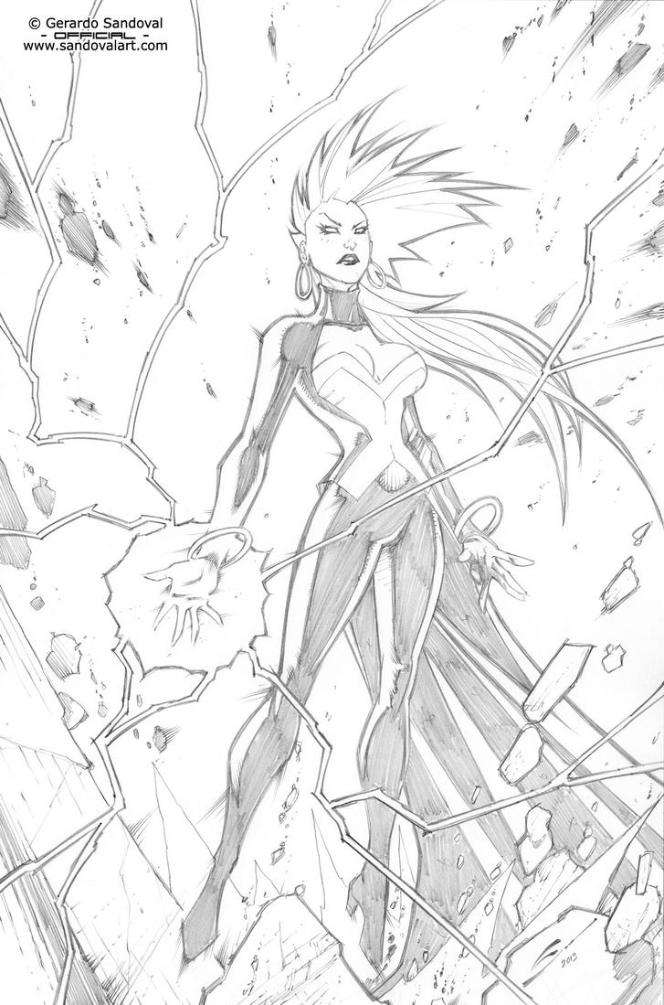 x men storm coloring pages image information