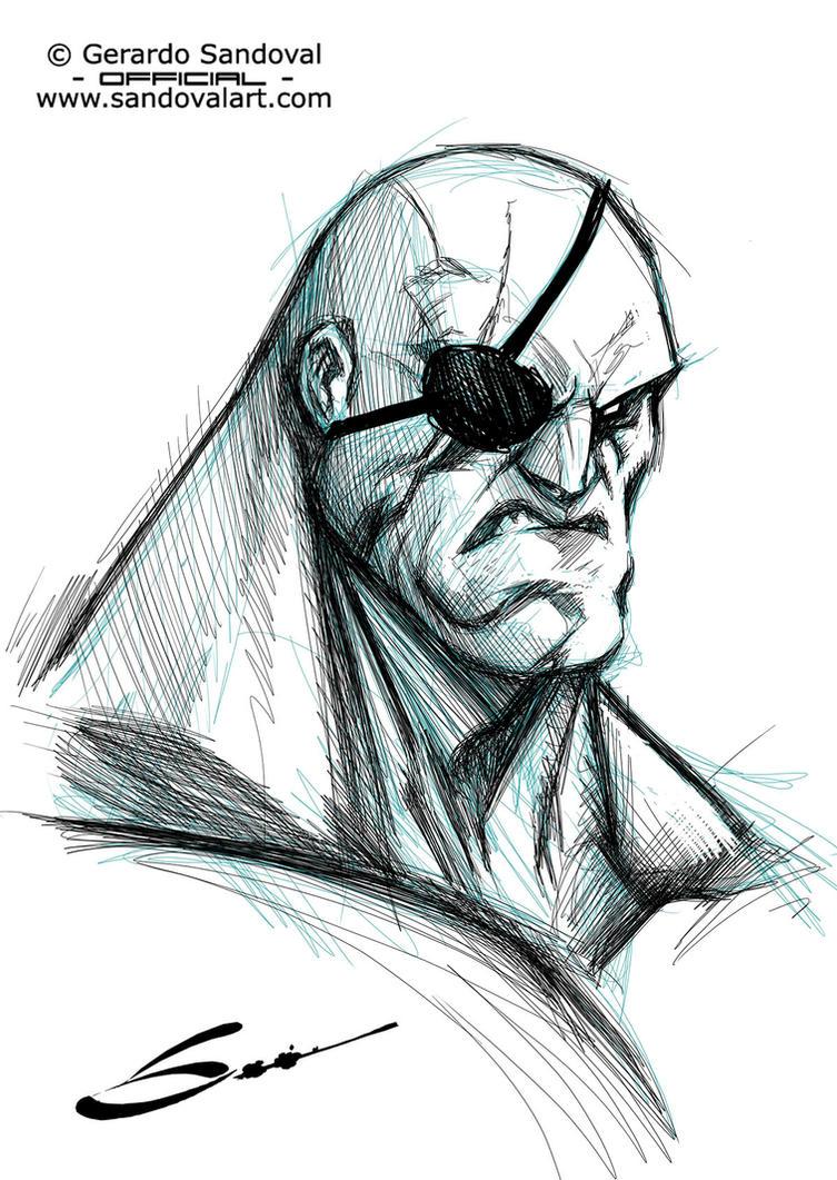 Sagat sketch! by Sandoval-Art