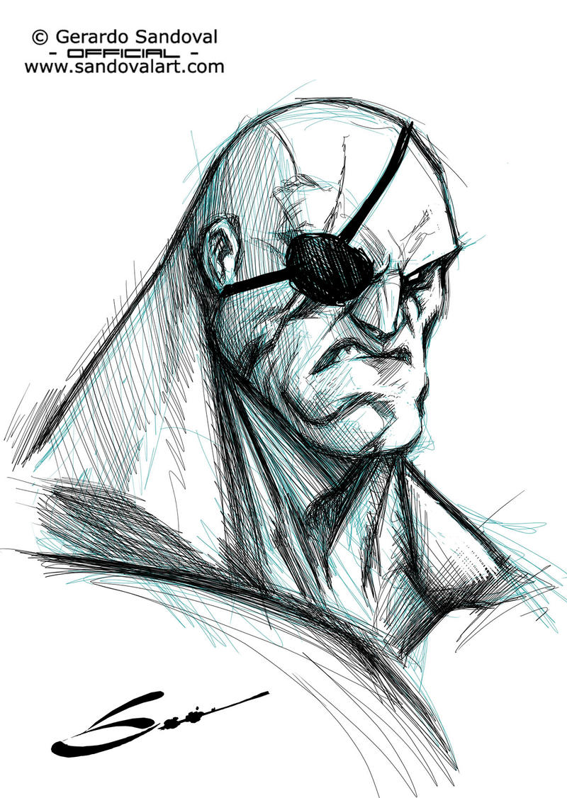 Sagat sketch! by Sandoval-Art