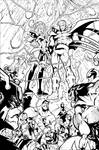 WHAT IF: AVENGERS VS X-MEN 3 PAGE 20 INKS