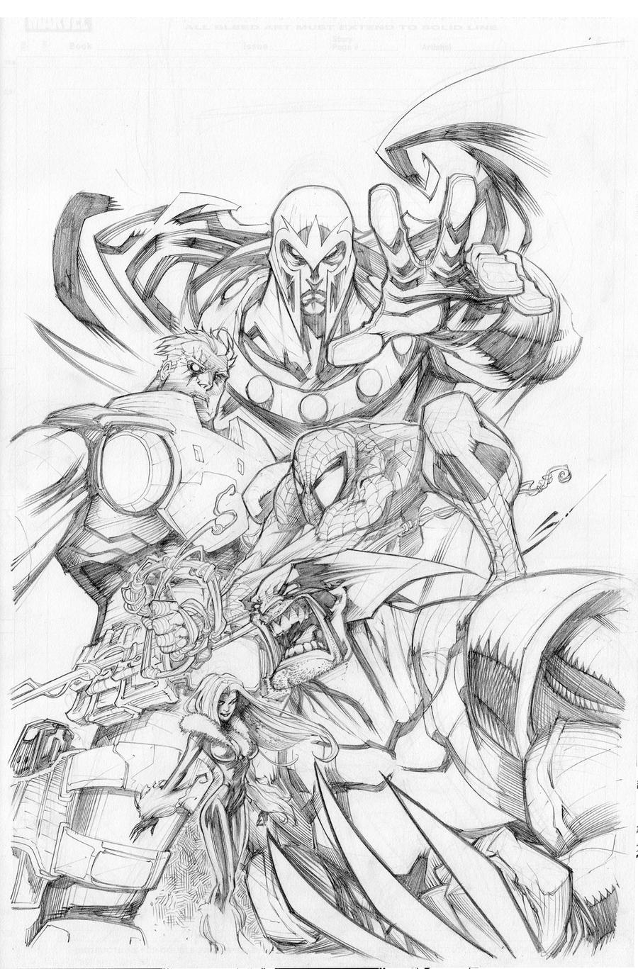 Marvel comics Art by Sandoval-Art