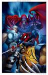 Marvel comics Art in color-