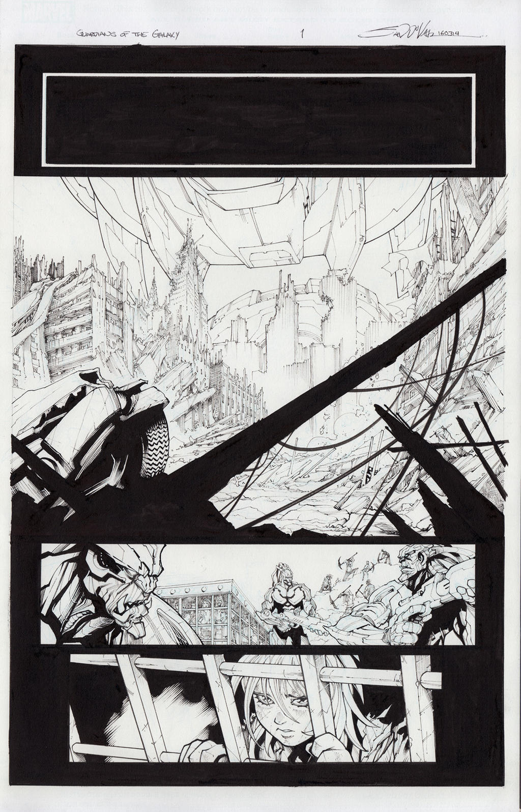 Guardians of the Galaxy #14 page 1 for sale by Sandoval-Art