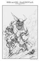 Wolverine Print by Sandoval-Art