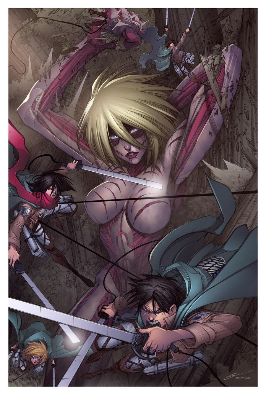 Attack On Titan - Female Titan Color by Sandoval-Art on DeviantArt