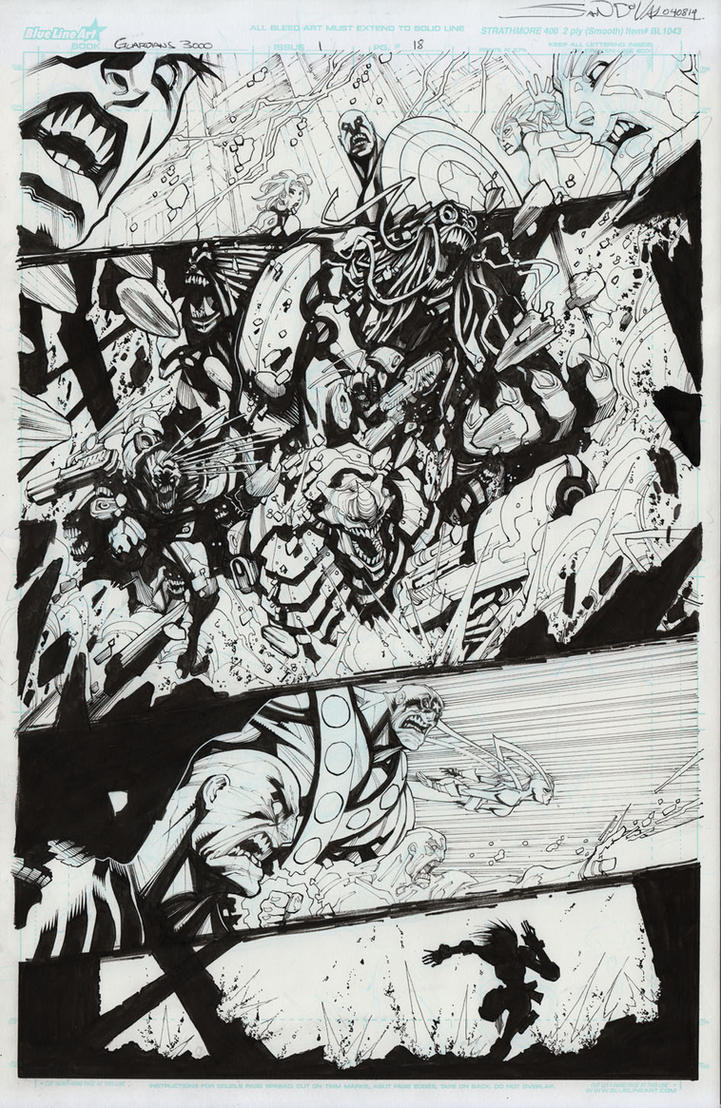 Guardians 3000 original art for sale by Sandoval-Art