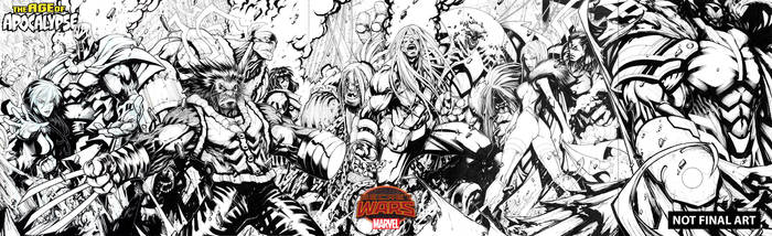 Age of Apocalypse covers by Sandoval-Art