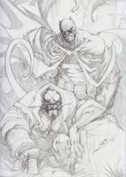 Batman - Hellboy by Sandoval-Art