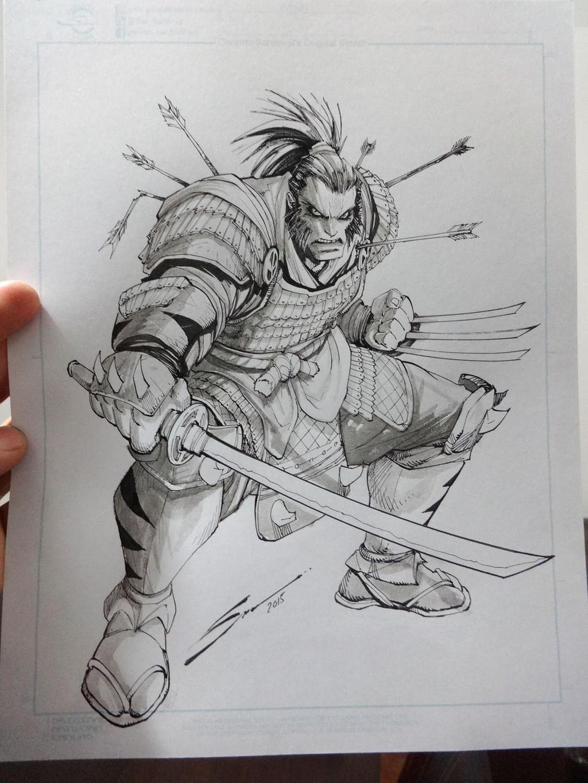 Wolverine Samurai by Sandoval-Art