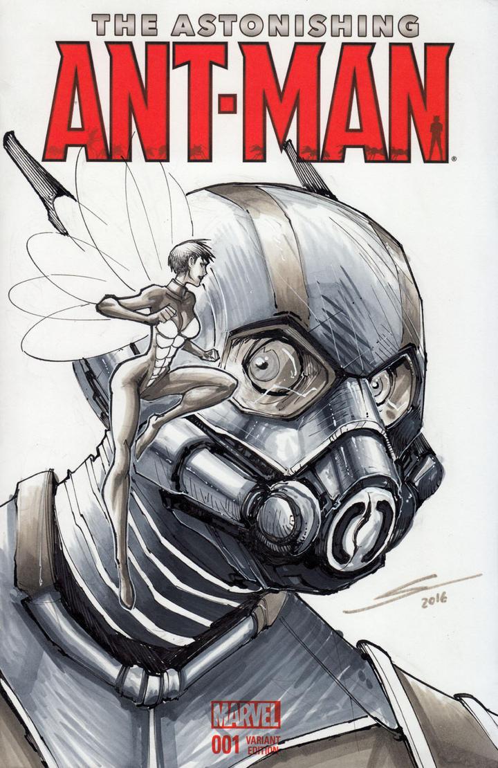 Ant-man original sketch-- by Sandoval-Art