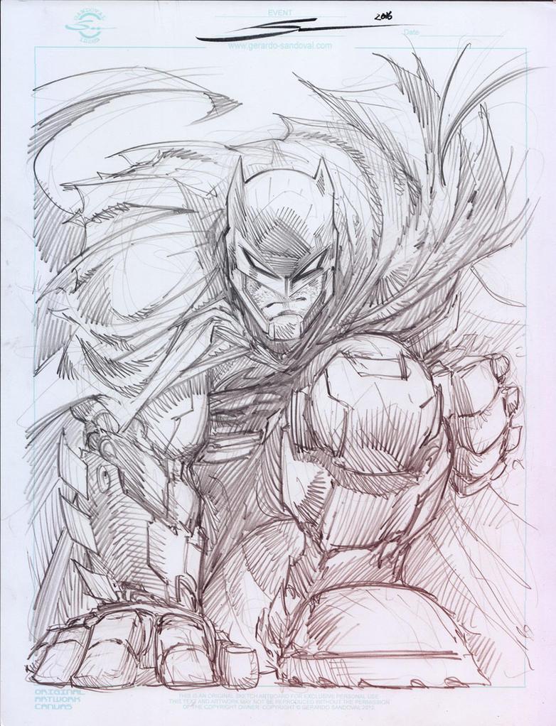 Armored Batman by Sandoval-Art