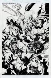 Venom #160 cover by Sandoval-Art