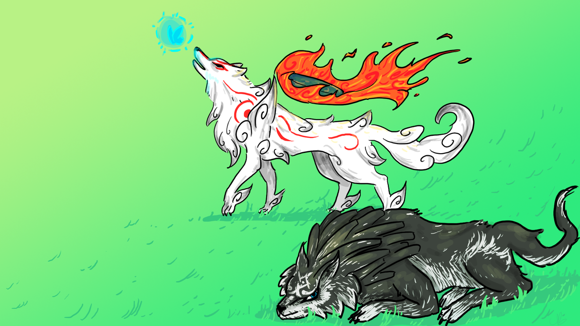 Amaterasu and Wolf Link Background by CuttlePrince on ...