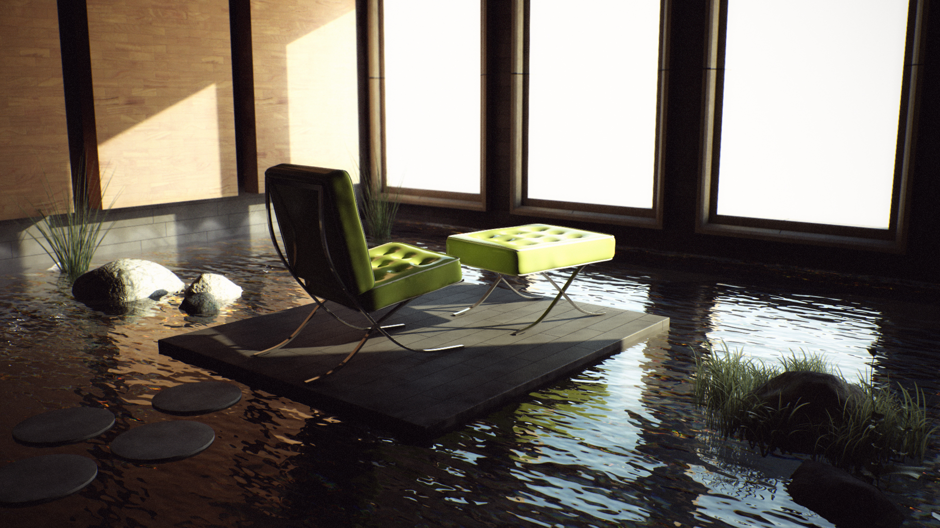 Zen room by jesse on deviantart for Zen style living room design