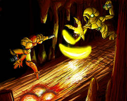 Metroid Bosses: Gold Torizo by Cronoan