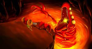 Metroid Bosses: Crocomire by Cronoan