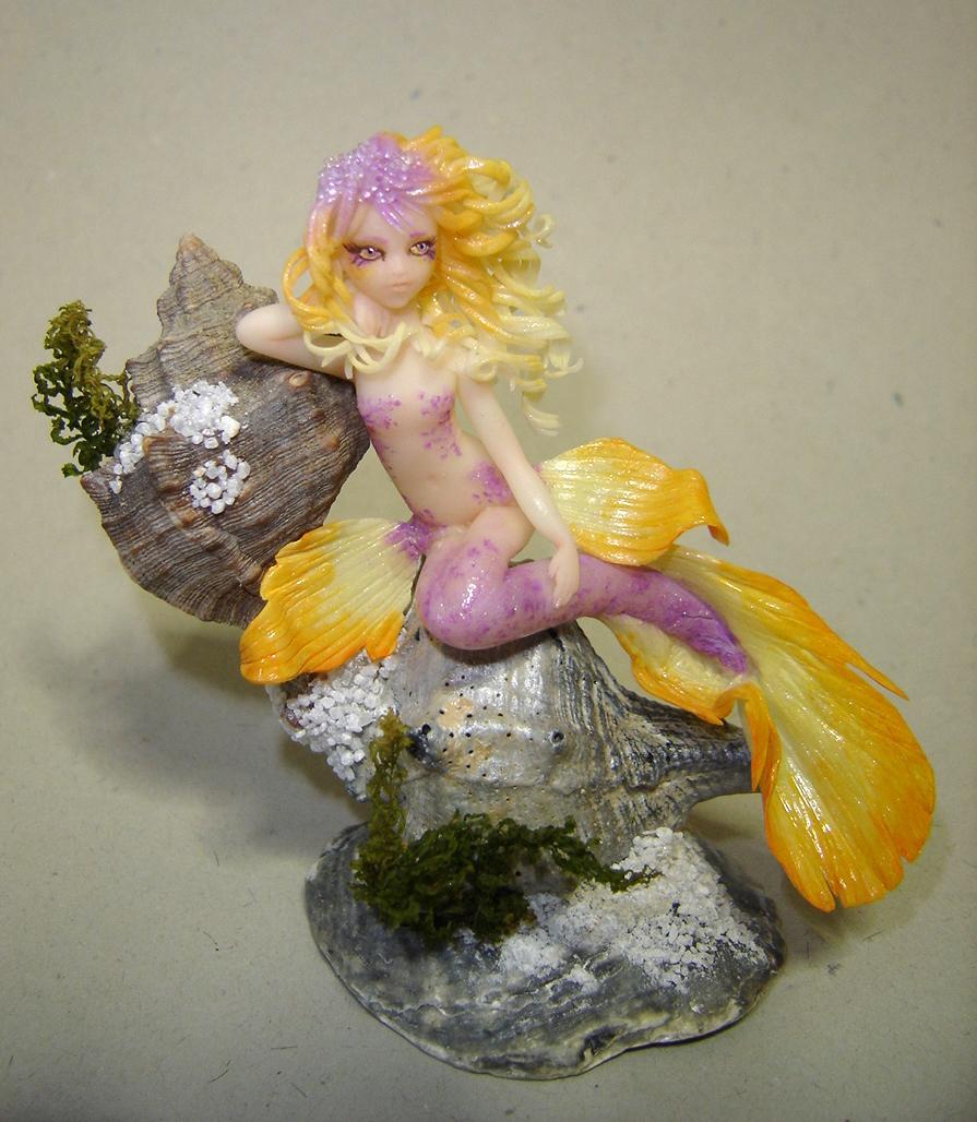 Amethyst Mermaid by Fairiesworkshop