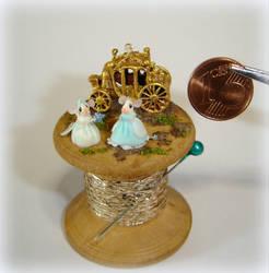 Cinderella - Miniature mice on spool