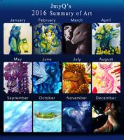 2016 Summary of Art by JmyQ