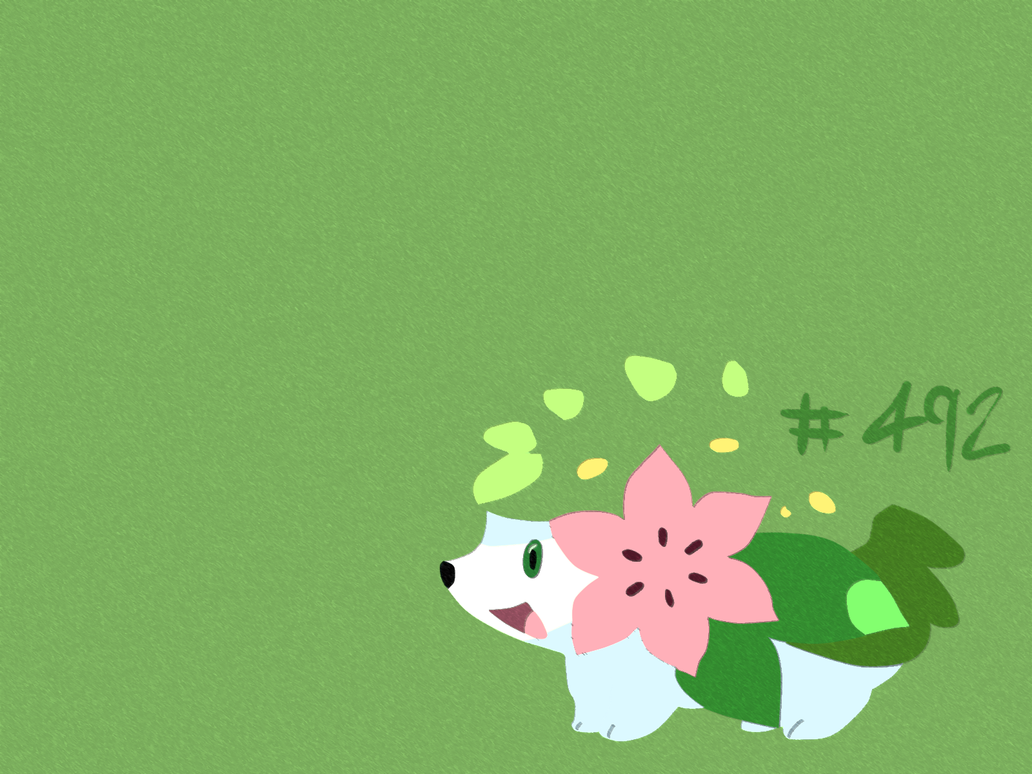 Shaymin wall smudge stick by artisticninja on deviantart for Pre stick wallpaper