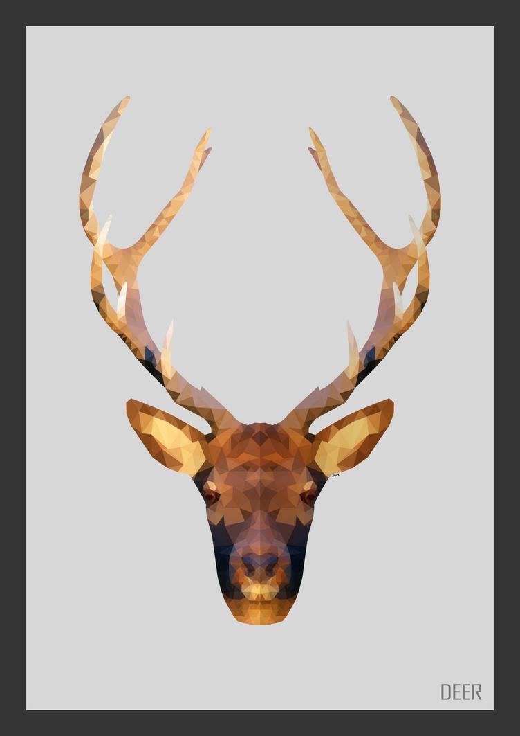 Low Poly Deer + Print by ArtisticNinja