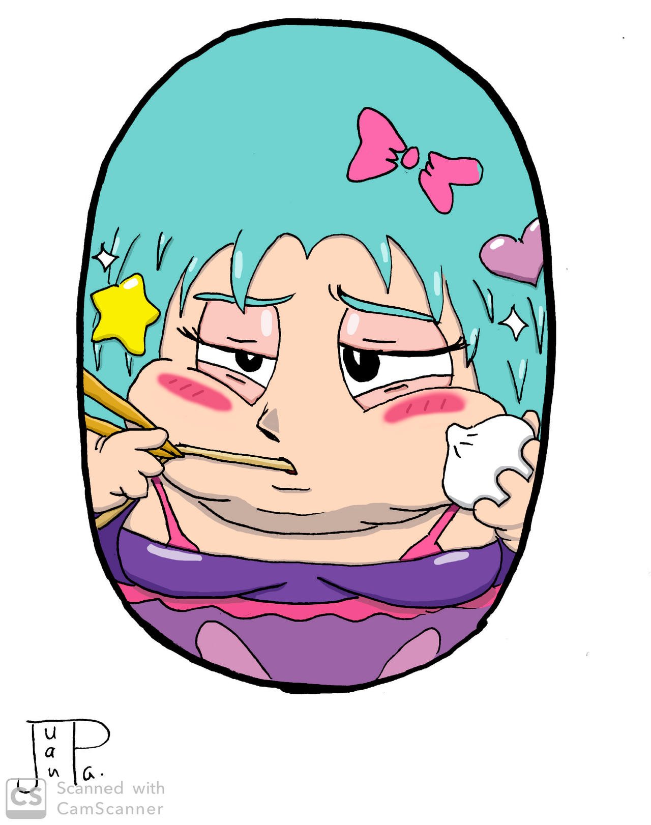 Mighty Beanz OC - Fat Anime Girl by JuanpaDraws on DeviantArt